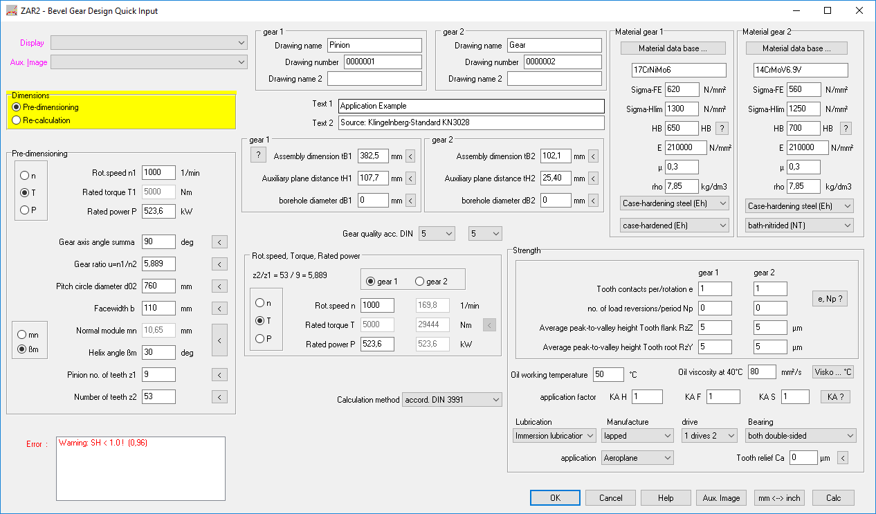Zar2 Spiral Bevel Gear Calculation